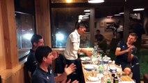 [Vidéo] Le toast pour sa victoire que Nairo Quintana a fait lors du dîner de l'équipe Movistar