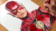 Drawing The Flash - Justice League- DC  - Time-lapse - Artology