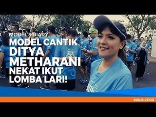 Vlog Model Cantik DITYA METHARANI Nekat Ikut Lomba Lari!