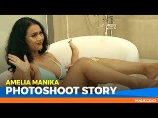 AMELIA MANIKA di Behind the Scenes Photoshoot - Male Indonesia | Model Hot Indo