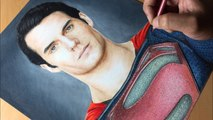 Drawing Superman - Man Of Steel- DC - Justice league  - Time-lapse - Artology