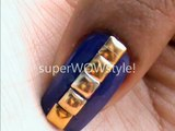 Square Nail Art Designs - With _Metal Pyramid Studs_