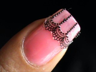 Sticker - Lace nail design tutorial !