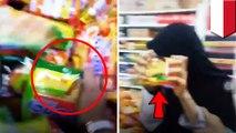 Viral video 3 gadis sekolah hancurkan mie instan di supermarket - TomoNews