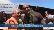 'The Rock' Visits Telescope Protest Site
