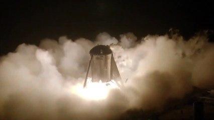 Space X logra elevar sin anclajes su prototipo de cohete Starhopper