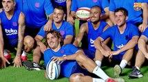 Antoine Griezmann s'essaie au Rugby et ... ça lui réussi plutôt bien