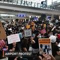 Hong Kong protesters rally at airport to 'educate' visitors