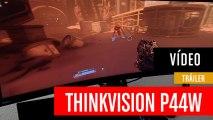Jugando a DOOM en el ThinkVision P44w