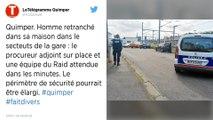 Quimper : Un homme armé et retranché chez lui s'échappe et se rend au commissariat