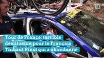 Tour de France: terrible désillusion pour le Français Thibaut Pinot qui a abandonné