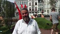 Mons: flâner dans le jardin éphémère face à l'hôtel de ville