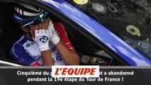 Thibaut Pinot, blessé, abandonne - Cyclisme - Tour de France