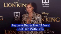 Beyonce Reveals A Diet Her Fans Can Follow