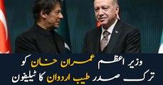 Turkish president Erdogan telephones PM Imran