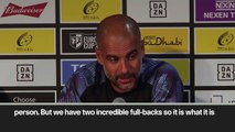(Subtitled) 'He needs to push himself' Guardiola says Stones can stop making mistakes