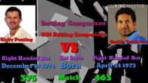 Ricky Ponting VS Sachin Tendulkar Batting Comparison ODi  Match  zahidmunir22