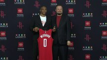 Houston Rockets unveil Russell Westbrook