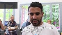 """Riyad Mahrez, décoré par la ville de Sarcelles, se dit """"touché"""""""