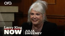 Julia Sweeney and Dennis Miller disagree about the current political climate