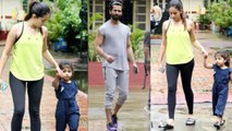Shahid Kapoor & Mira Rajput spotted with daughter Misha Kapoor; Watch Video | FilmiBeat