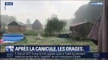 Orages, grêle : après la canicule les intempéries en France