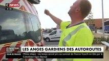 Départs en vacances: Les patrouilleurs assurent la sécurité des automobilistes sur les autoroutes - VIDEO