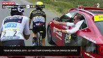 Tour de France 2019 : Un violent orage de grêle stoppe la 19e étape (Vidéo)