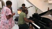 Petite Improvisation entre Teni et Peter Okoye