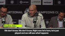 (Subtitled) 'Gareth is with us' Zidane on Bale amid speculation of a move to China for the Welshman
