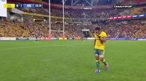 La standing ovation  du Suncorp Stadium de Brisbane pour la sortie de Will Genia