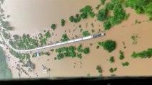 En Inde, un train bloqué par la mousson avec plus de 800 personnes à bord
