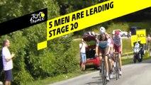 5 coureurs devant / 5 men are leading - Étape 20 / Stage 20 - Tour de France 2019