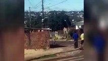 Vídeo mostra crianças se arriscando para pegar pipa presa em fiação