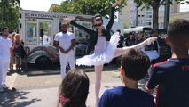 Battle breakdance-danse classique à la Guérinière
