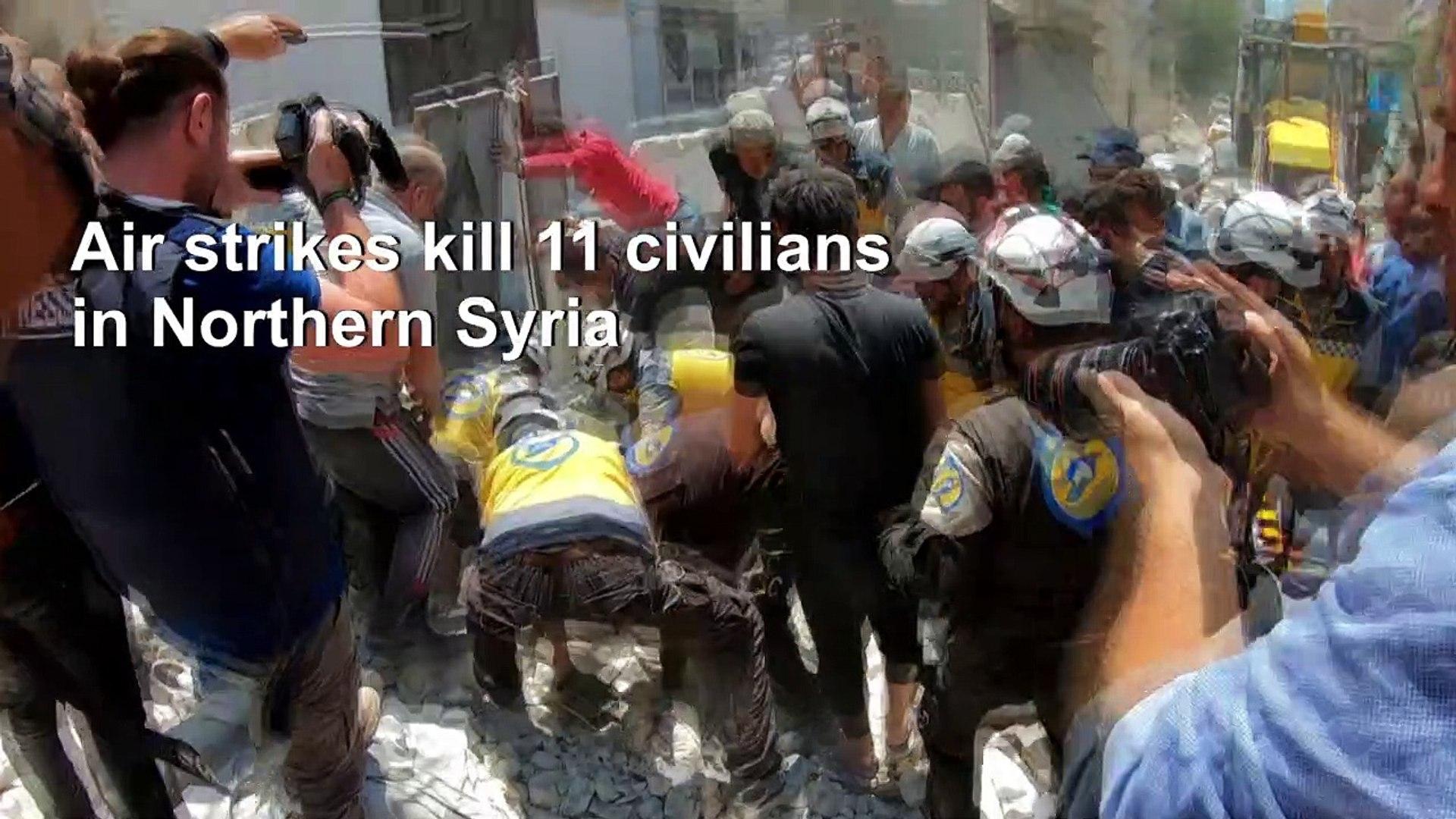 Air strikes kill 11 civilians in Syria's Ariha: monitor