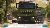 Haute-Loire : des routes fondues à cause de la canicule