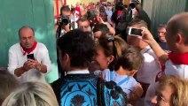 Llegada de Cayetano y Jesulín a la plaza de toros de Tudela