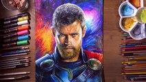 Drawing Thor (Thor: Ragnarok, Chris Hemsworth) - drawholic