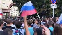 Des centaines d'arrestations lors d'une manifestation à Moscou
