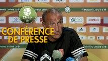Conférence de presse Rodez Aveyron Football - AJ Auxerre (2-0) : Laurent PEYRELADE (RAF) - Jean-Marc FURLAN (AJA) - 2019/2020