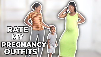 RATE MY PREGNANCY OUTFITS | PrettyLittleThing