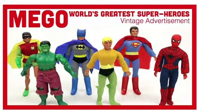 Mego World's Greatest Super-Heroes - Vintage Toy Advertisement