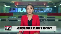 Tariffs on imported agricultural products will remain: Official