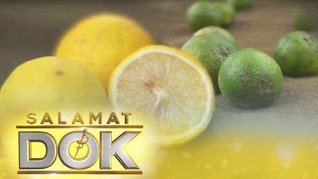 Dr. Mary Grace Macatangay details the health benefits of lemon and calamansi   Salamat Dok