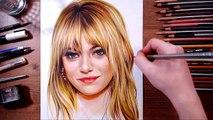 Emma Stone - speed drawing - drawholic