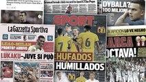 La Juve passe devant l'Inter pour Romelu Lukaku, la presse catalane se régale de la débâcle du Real Madrid