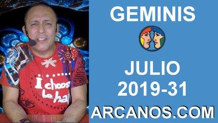HOROSCOPO GEMINIS - Semana 2019-31 Del 28 de julio al 3 de agosto de 2019 - ARCANOS.COM