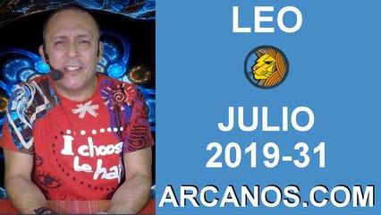 HOROSCOPO LEO - Semana 2019-31 Del 28 de julio al 3 de agosto de 2019 - ARCANOS.COM
