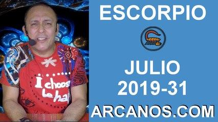 HOROSCOPO ESCORPIO - Semana 2019-31 Del 28 de julio al 3 de agosto de 2019 - ARCANOS.COM